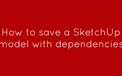 How to save a SketchUp model with dependencies