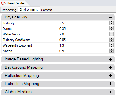 Thea Render Settings