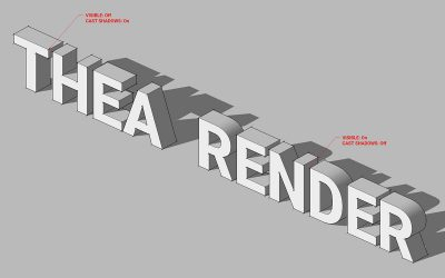 Thea for SketchUp Flags: Visible and Cast Shadows