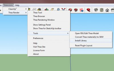 Installing Thea Libraries in Thea for SketchUp