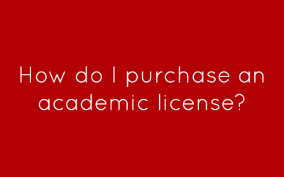 How do I purchase an academic license?