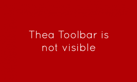 Thea Toolbar is not visible